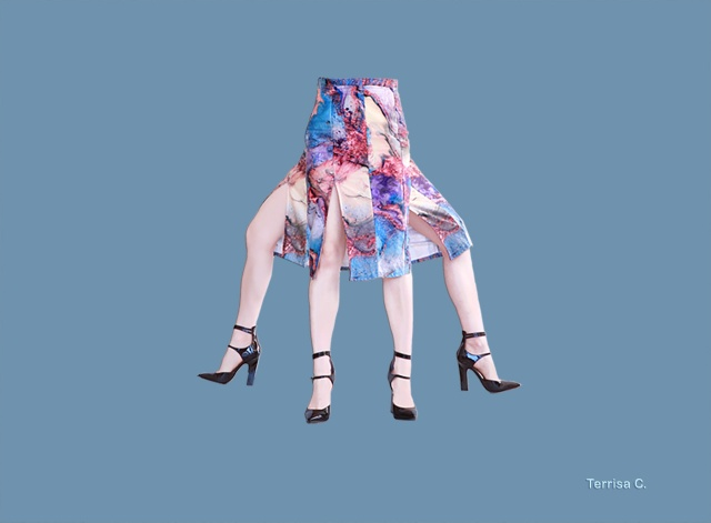 skirt surreal fashion digital art
