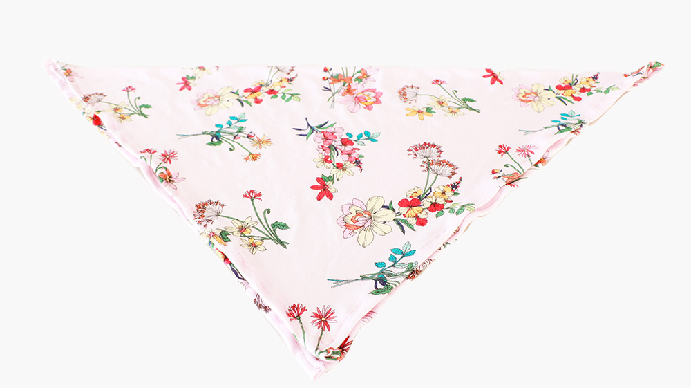 pink floral square scarf